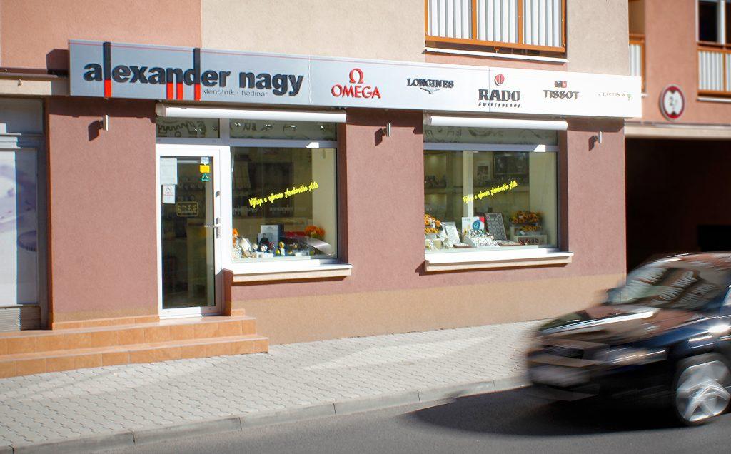 Predajňa Alexander Nagy v Rimavskej Sobote